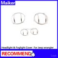 headlight cover & Fog light cover for jeep wrangler jk accessories from maiker
