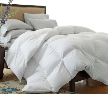 Oversized 330 Thread Count All-Season White Down Blend Comforter