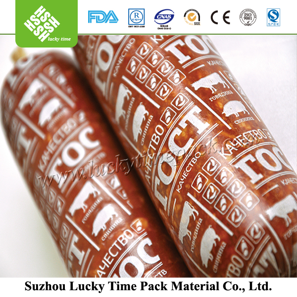 Food Grade Printing Different Calibre Plastic Casing for Sausage