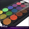 18 color flower pattern light taupe eyeshadow eye shadow palette