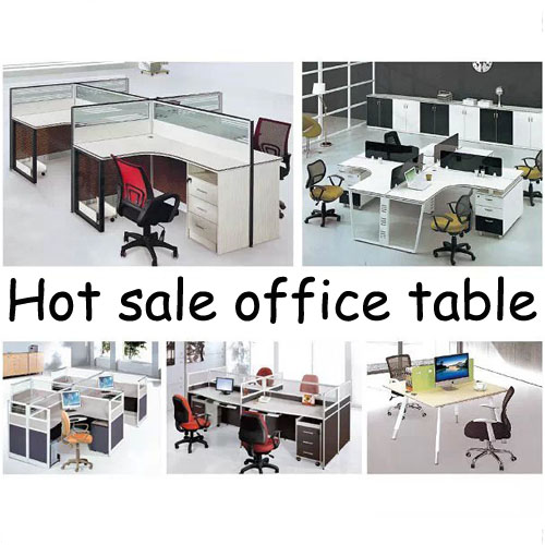 4 Seats Office Computer table Modern Office Desks four People Wood Computer Workstation