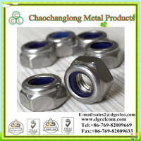 DIN 985 Stainless Steel 304 Nylon Insert Lock Nut M6
