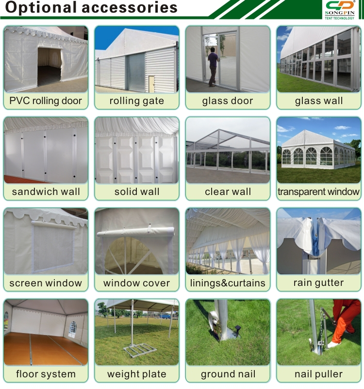 On sale 15x20m transparent wedding tent with decoration
