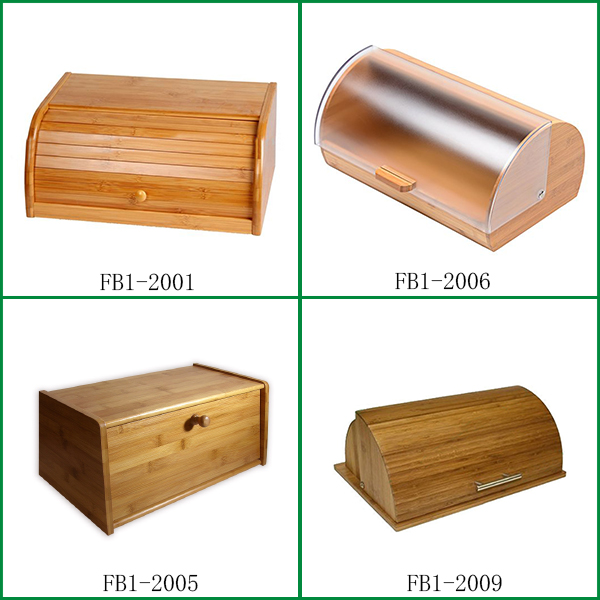 Bamboo bread bin /bamboo bread box with lid