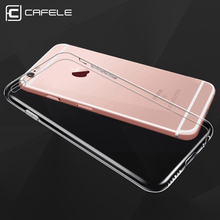 CAFELE Transparent Phone Case Silicone Luxury Soft TPU Protective Back Cover For Iphone 6 7 Plus