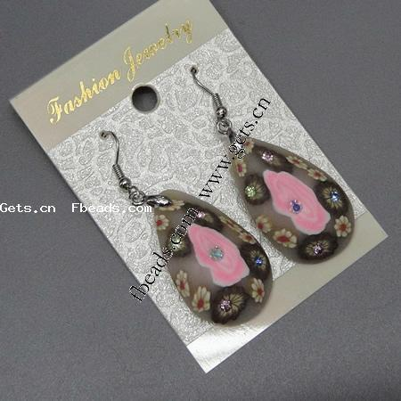 polymer clay 22 carat gold drop earrings