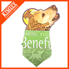 Printed triangle custom dog bandana with logo
