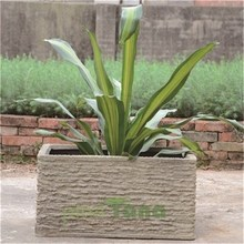 flower pot stone finish rectangular flower pot fiberglass flower pots