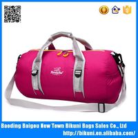 Outdoor traveling waterproof nylon foldabl sports athletic gym bags