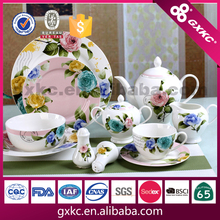 BLOOMING ROSE series new bone china dinnerware gift set manufactured in China