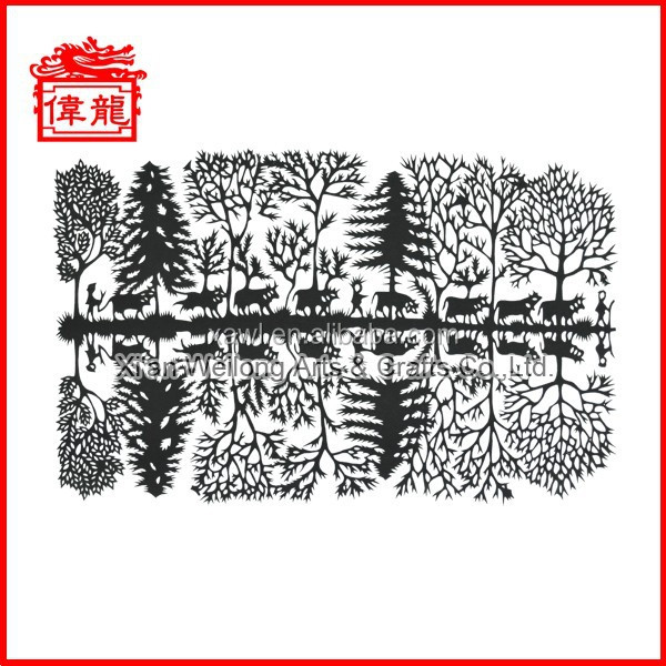 Paper handicraft chinese morden paper cut out AD626