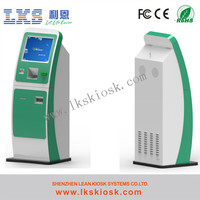 stainless steel kiosk with cash acceptor and touch screen