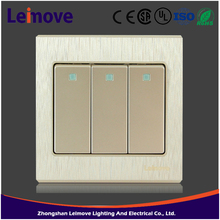 high quality safety three gang one way/ two way electrical wall switch 12 years warranty switch