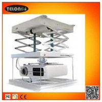 Motorized hydraulic lift system, motorized projector ceiling mount