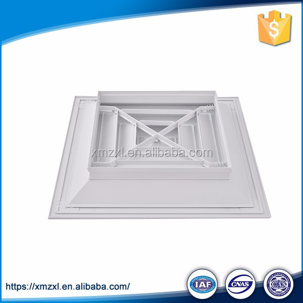 Aluminum Hvac Controller Square Supply 4 Way Supply Ceiling Air Diffuser