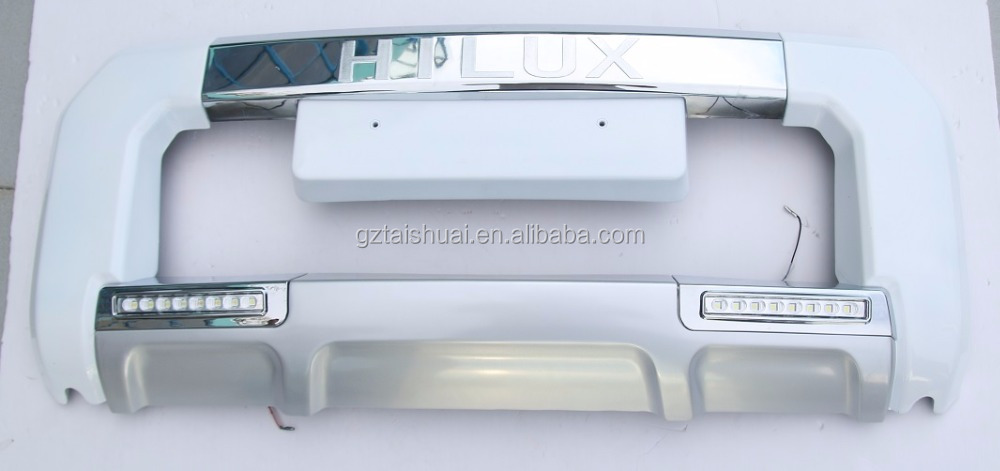 ABS PLASTIC FRONT BUMPER FOR TOYOTA HILUX VIGO WITH LED