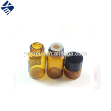 1/4 Dram 1ml Amber Glass Vial Perfume Test Vial with Black Caps