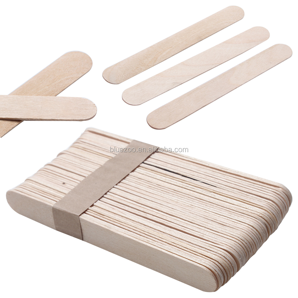 BlueZOO Small Depilatory Wooden Waxing Spatulas for Body Hair <strong>Removal</strong> 15cm length