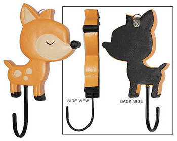 COAT RACK WOODEN DEER ORANGE