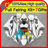 BodyBody For YAMAHA YZFR6 YZF 600 06-07 ALL White YZF R 6 06 07 CL9660 YZF600 YZF-R6 YZF R6 2006 2007 ALL Gloss white Fairing