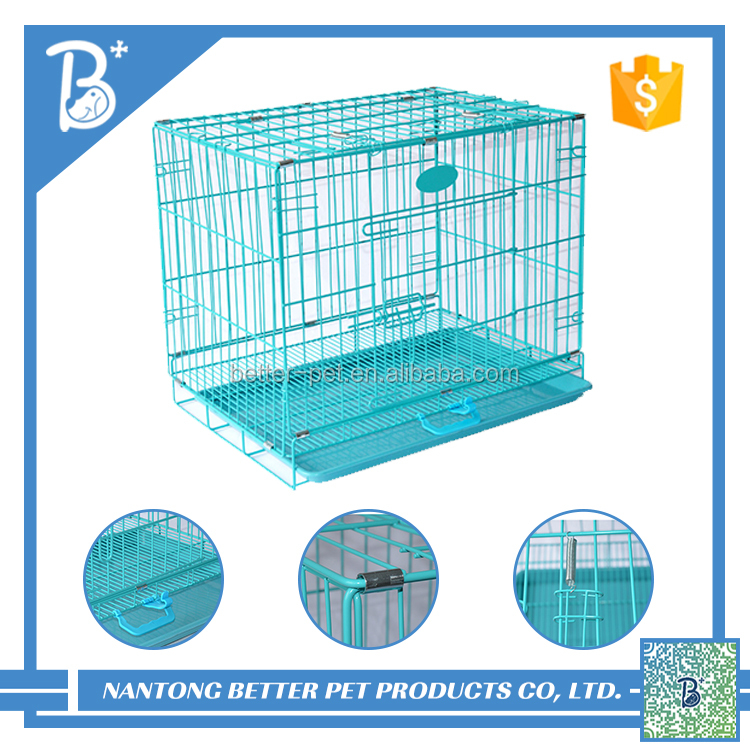 Collapsable metal wire mesh pet dog crate/dog cage/dog kennel