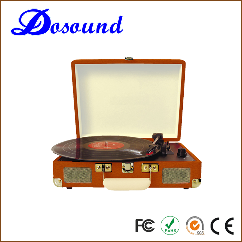 Suitcase turntable/belt drive vintage vinyl record player/usb sd player/DS-101