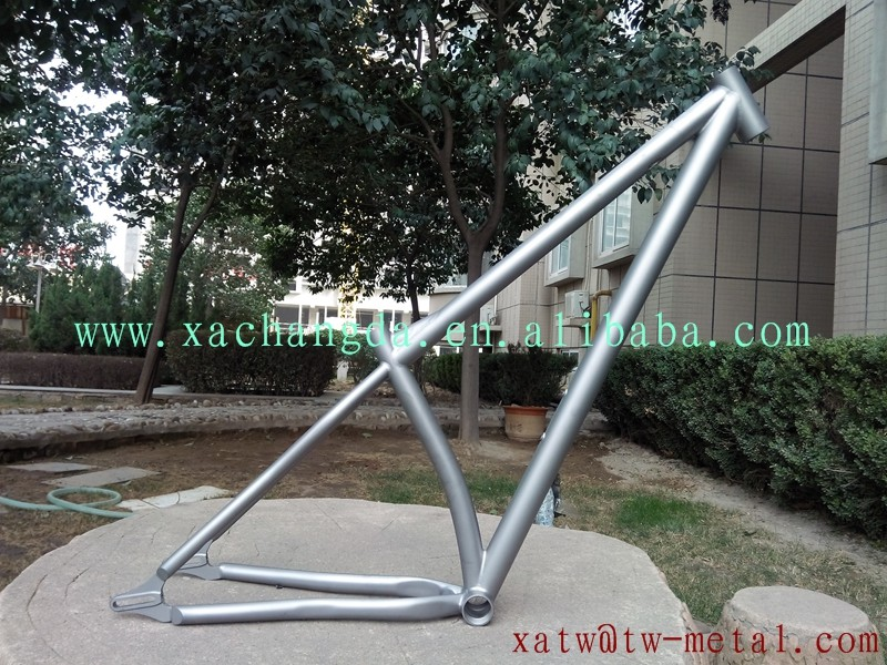 titanium mtb bike frame with bending seat tube titanium fat bicycle frame