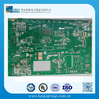 2015 Hot Selling 94vo FR4 Green Sold Mask 2 layer LCD TV Mainboard, LCD TV Spare Parts