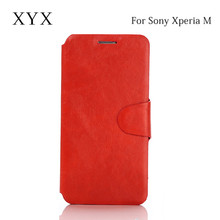 "ultrathin leather case for sony xperia m, for sony xperia m c1905 4"" smartphone, case for sony xperia m c1904 c1905"