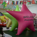 Lovely PVC Inflatable Star Shape Air Balloon For Advertising Display