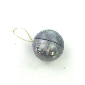 China factory hot sale small Christmas gift tin box,christmas metal ball