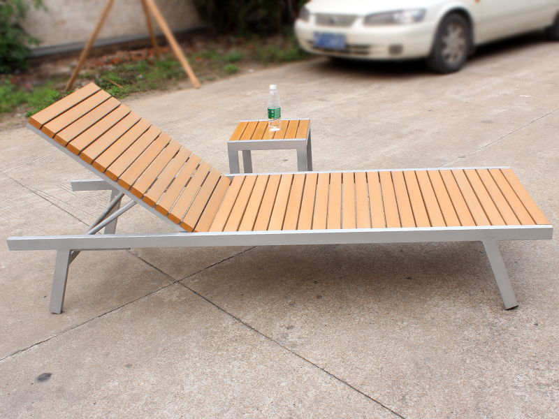 ZT-4044LT hot sale aluminum outdoor wood lounge