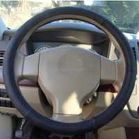 Genuine Leather Wood Leather Steering Wheel Cover new car accessories