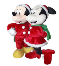 Christmas gifts plush soft stuffed mickey and minnie mouse toy