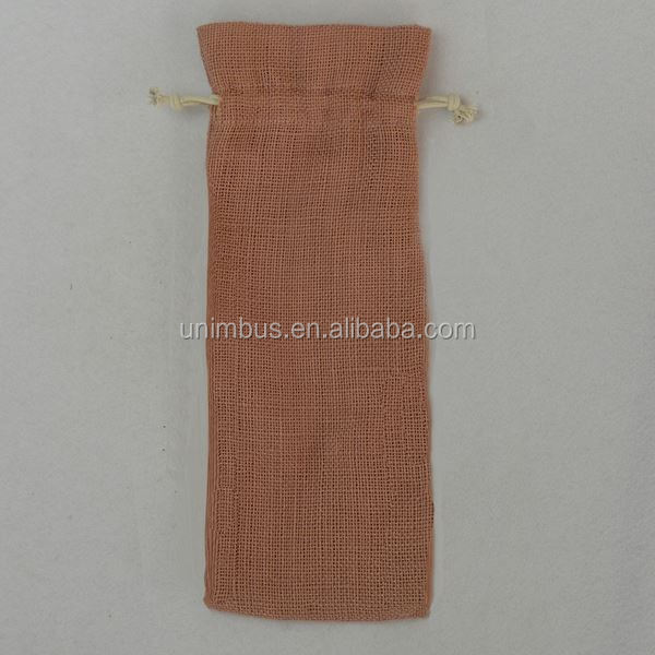 Custom linen laundry bag, beautiful indian drawstring pouch