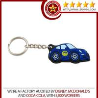 Customized soft pvc car keyring