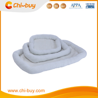 3 Sizes White Soft Fleece Polyester Dog Crate Mat Pet Crate Pad for Puppy