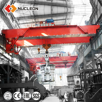 Nucleon YZ 110/30T overhead crane for foundry cap.