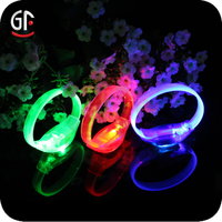 Halloween 2016 Antique Rubber Band Glow in the Dark Led Sound Sensor Bracelets