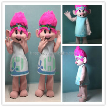 HI Troll poppy mascot costume Trolls Branch custom made anime cosplay cartoon character for sale