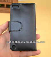 For ipod touch5 smooth leather case;leather cover for touch5