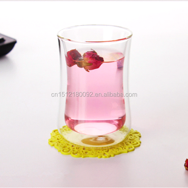 Aliisar Top Quality Mouth Blown Double Wall Glass <strong>Cup</strong>