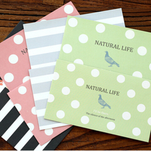 Lovely Polka Dot Design Writing Stationery Paper with 4 Envelope