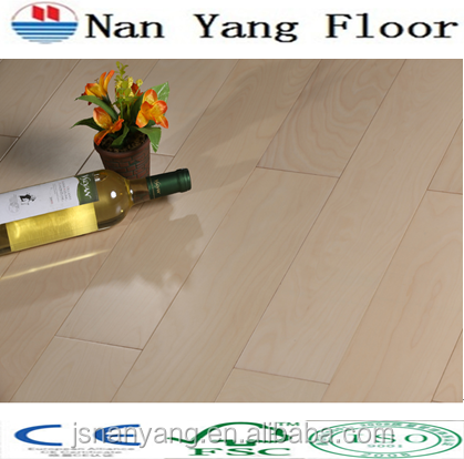 China maple UV Lacquered wooden floor