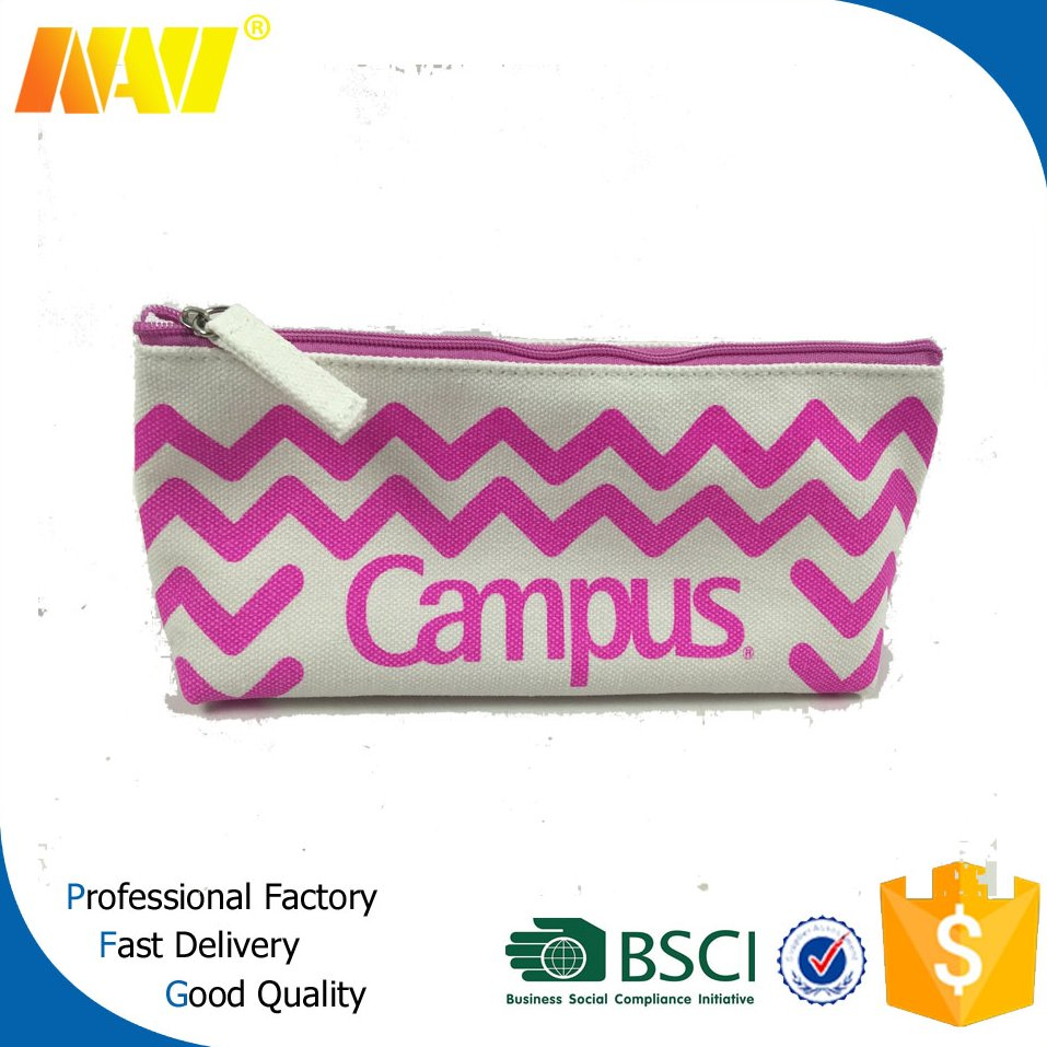 fashion promotion waffle weave printing canvas pen bag