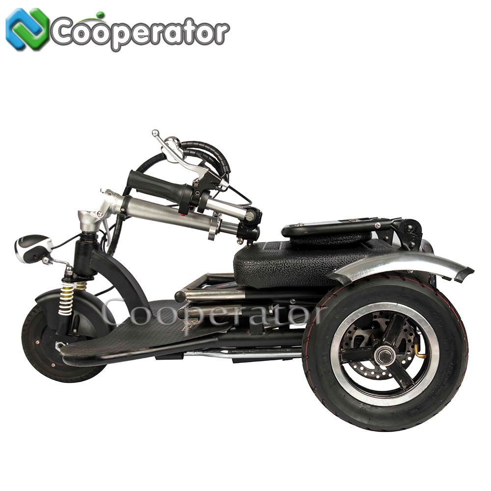 Cooperator High Quality Mini Folding Electric Tricycle Adults 3 wheel Electric Bicycle