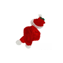 High quality pets product christmas costumes holiday red color dog clothes