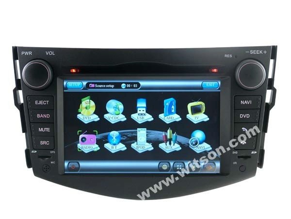 WITSON 3G CAR STEREO FOR TOYOTA NEW RAV4 with USB port and iPod ready