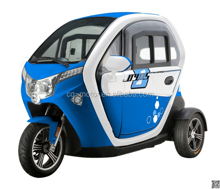 electric three wheel tricycle driving speed 45km/h for old adult 2 person