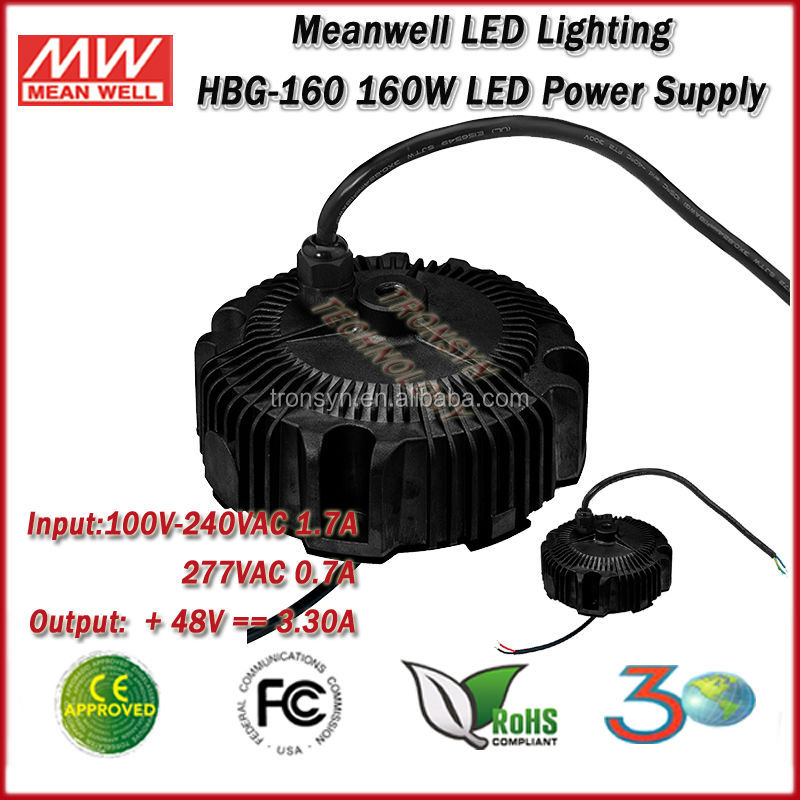 Meanwell LED Driver HBG-160-48 (160W 48V 3.3A) Single Output 160W 48V Electrical Power Supply And LED Power Supply